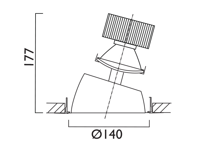 VP X140 Directional Line Drawing
